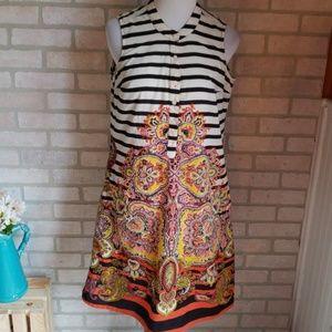 La Cera Striped Colorful Dress Size Medium